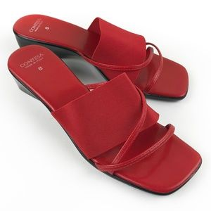 Contessa Red Slide Tourist Sandals Made in Italy 8